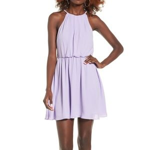 Lush Blouson Chiffon Skater Dress M